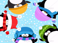 penguins celebrating_snow_preview